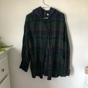 Urban Outfitters BDG Hooded Flannel